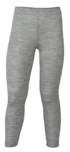 Engel Organic Merino Wool/Silk Kids Leggings - Light Grey