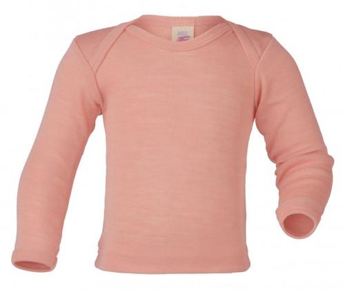 Engel Baby Shirt Organic Merino Wool/Silk - Salmon (up to 3T)
