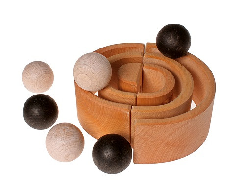 Grimm's 6 Wooden Balls - Monochrome