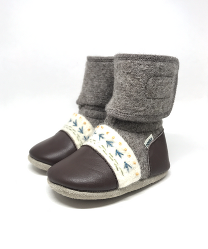 Nooks Wool Booties - Caribou
