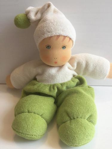 Nanchen Terry Cuddle Doll Mopschen Small - Green