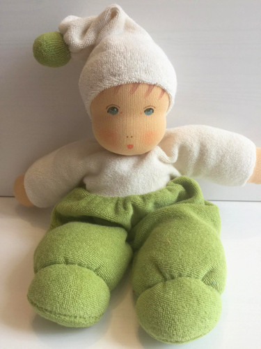 Nanchen Terry Cuddle Doll Mopschen Small - Green