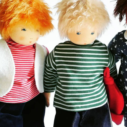 """Nanchen Outfits for 15 """" Dressable Dolls - Shirt, Jeans and Toque"""