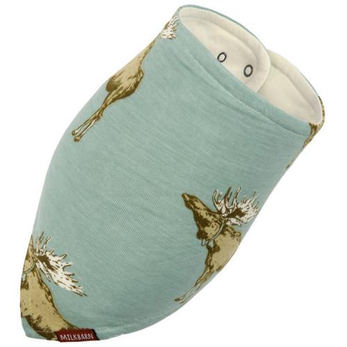 Milkbarn Bamboo Kerchief Bib - Bow Tie Moose