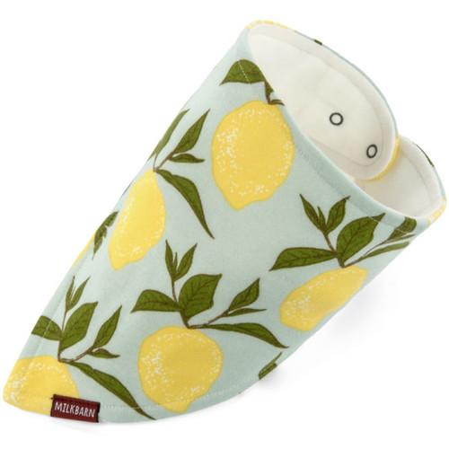 Milkbarn Organic Cotton Bandana Bib - Lemon