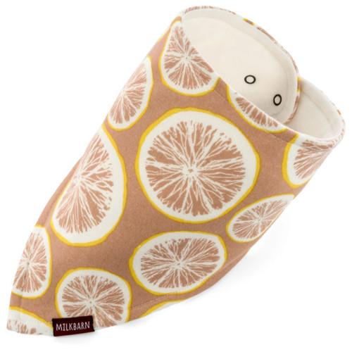 Milkbarn Organic Cotton Bandana Bib - Grapefruit