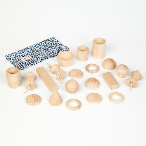 Grapat Wooden Natural Treasure Set with 20 Pieces