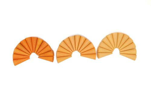Grapat Mandala Cones 36 pc - Orange (19-206)