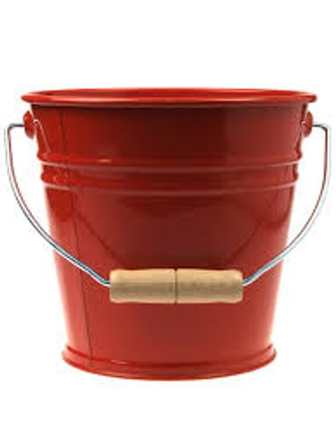 Enamel Bucket - Red