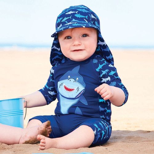 UV Swimsuit - Blue with Shark