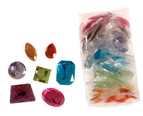 Grimm's Giant Acrylic Glitter Stones (140 pcs) (43097)