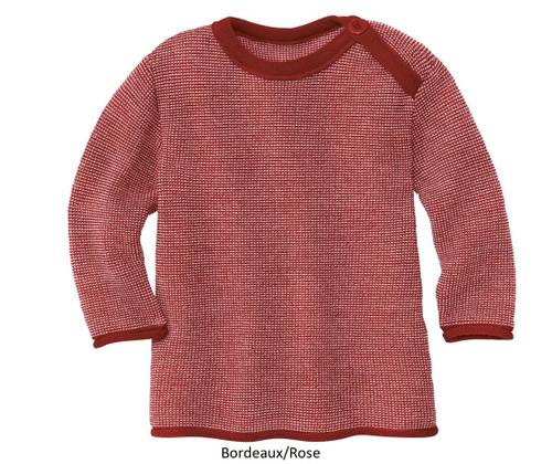 Disana Organic Merino Wool Melange Jumper (Button Neck)