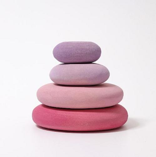 Grimm's Building Set Flamingo Pebbles (Pink)