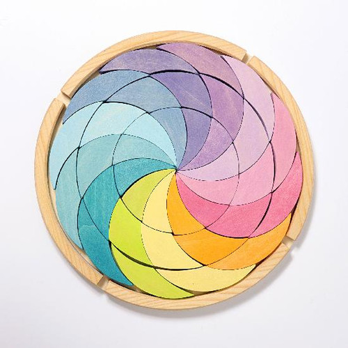 Grimm's Building Set Colourwheel Pastel (36 Pc) (43365)