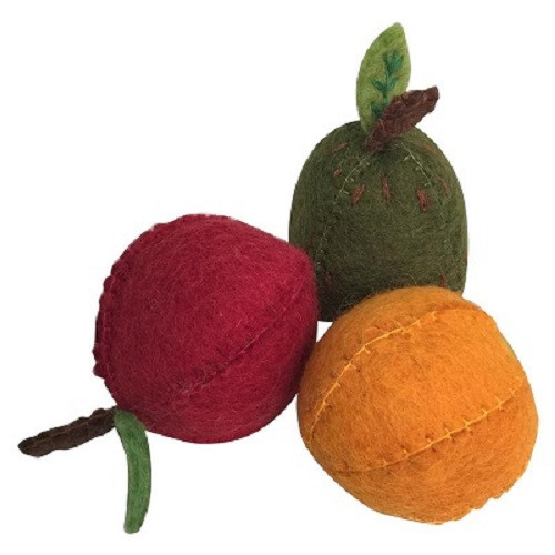 Papoose Apple, Pear and Orange Set of 3