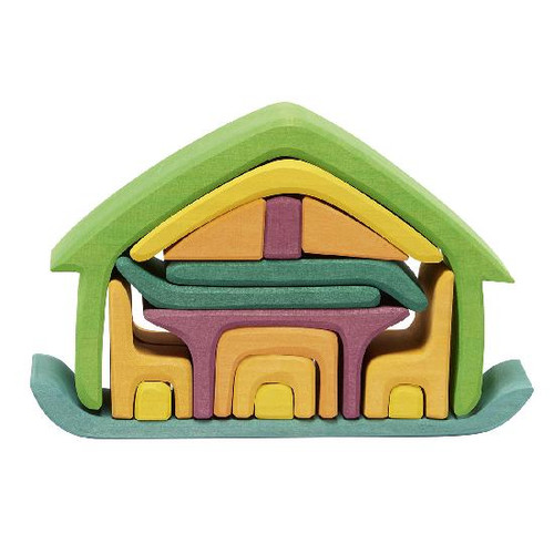 Glueckskaefer All-In-One House - Green (523265)