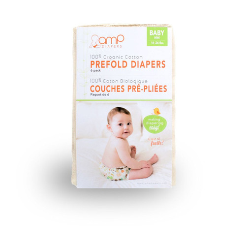 AMP Baby Organic Cotton Prefolds