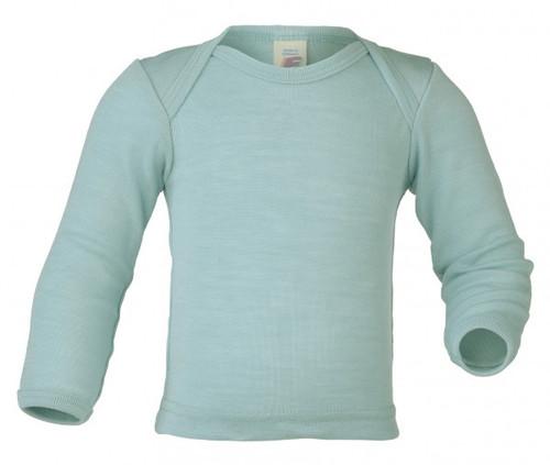 Engel Baby Shirt Organic Merino Wool/Silk - Glacier (up to 3T)