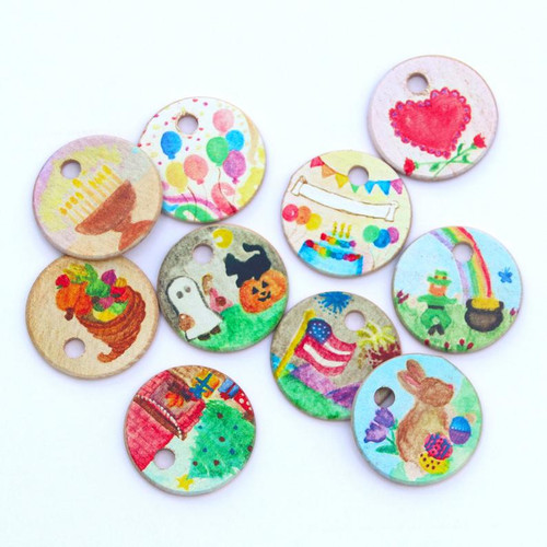 Holiday Coins for Wooden Home Calendar
