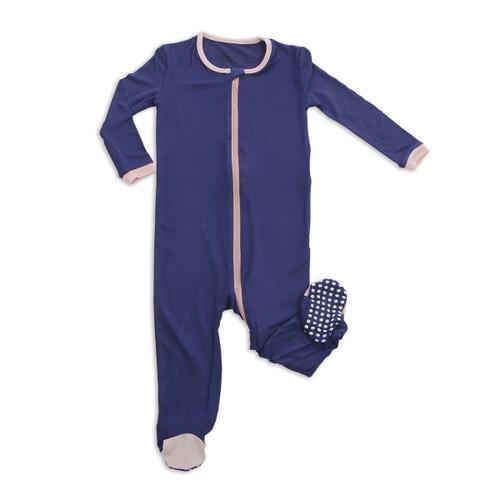 Silkberry Bamboo Footed Sleeper - Skipper Blue