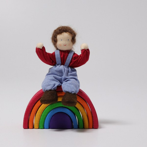 Grimm's Dollhouse Doll - Boy with Brown Hair