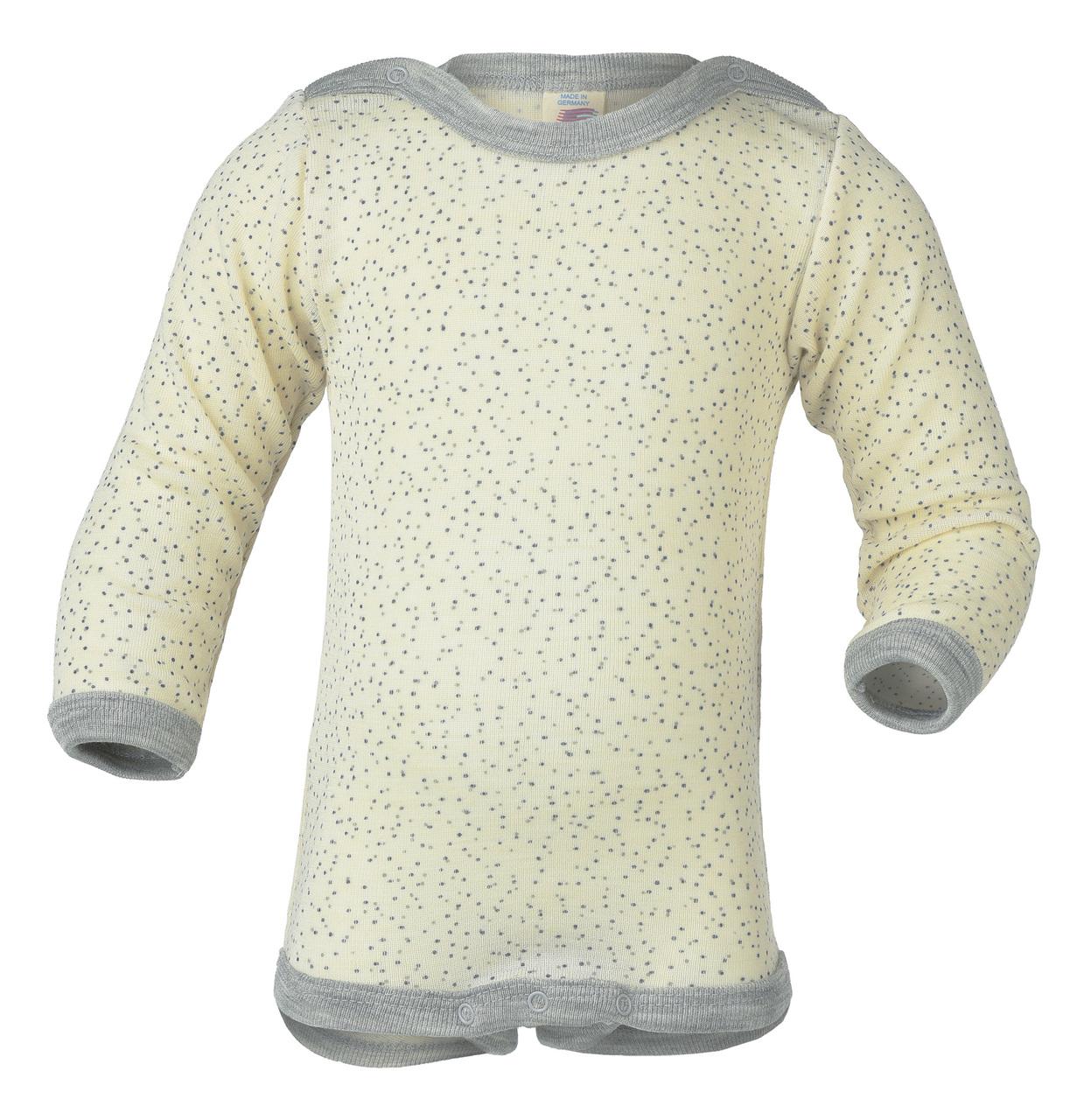 4ed2393c1 Engel Merino Wool/Silk Baby Onesie Printed Natural - Merino Wool Clothes  for Babies - Ava's Appletree