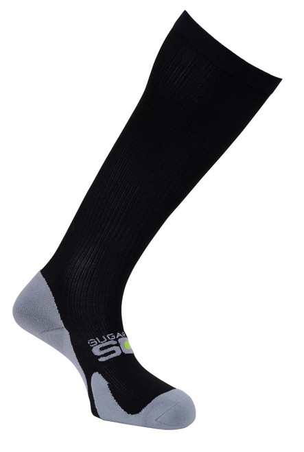 Extra Wide Stretch Compression Socks | Big & Tall Mens Black | 15-20 mmHg