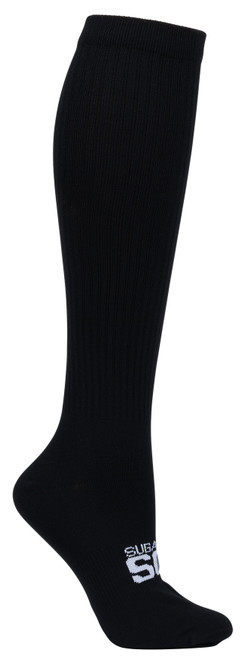 Sugar Free Sox Womens Black Easy Fit Compression Socks