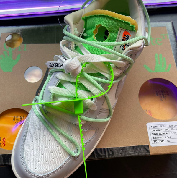 Off white dunk size 10.5