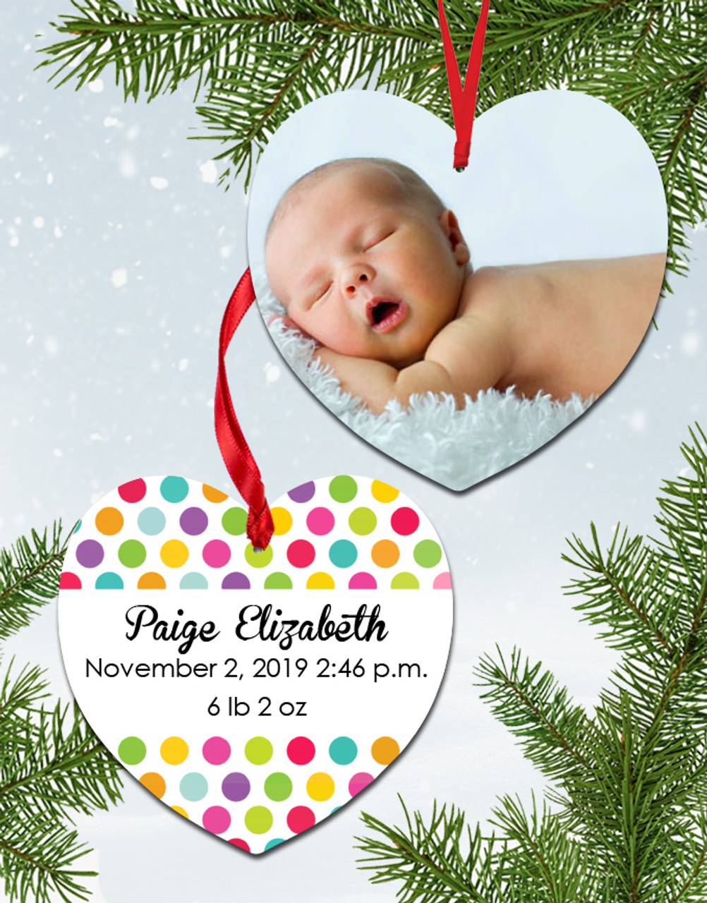 Pictureit Creations Personalized Baby S First Christmas Ornament
