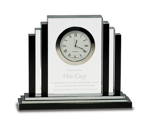 Executive Crystal Clock