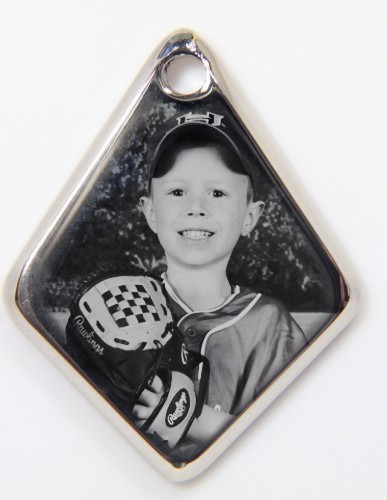 Photo Engraved Diamond Pendant
