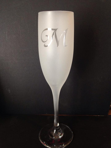 Personalized Frosted Champagne Flutes Set