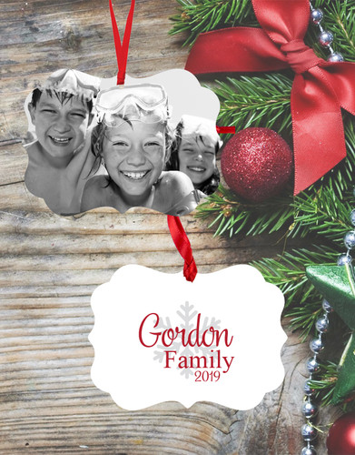 Personalized Monochrome Double Sided Ornament