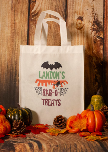 """Personalized """"Bag-O-Treats"""" Trick or Treat Bag"""