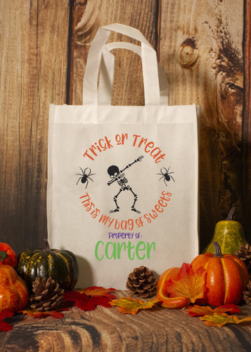 """Personalized """"Dabbing Bag of Sweets"""" Trick or Treat Bag"""