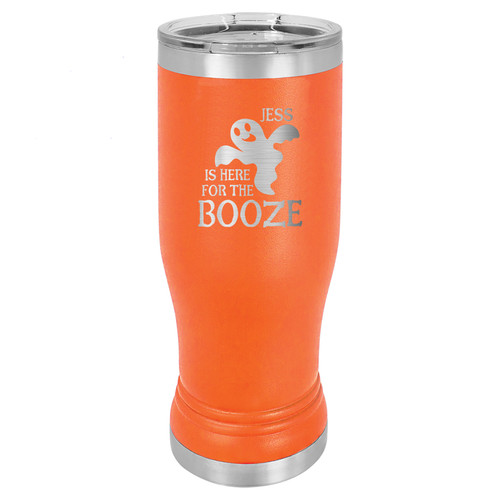"Personalized ""Here for the Booze"" Insulated Pilsner"