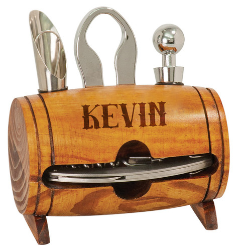 Personalized Barrel Wine Lover's Tool Set