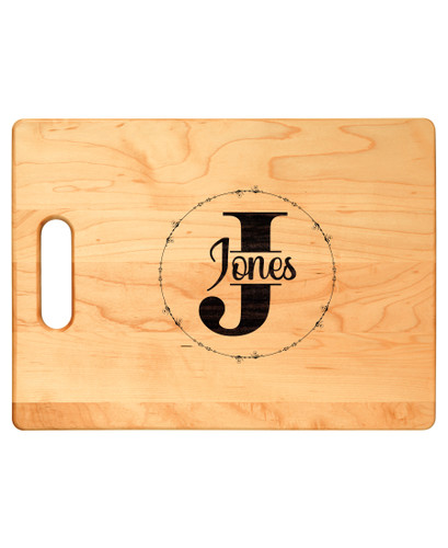 Personalized Monogram Maple Cutting Board