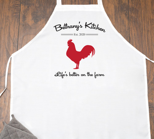"Personalized ""Life is Better on the Farm"" Cooking Apron"