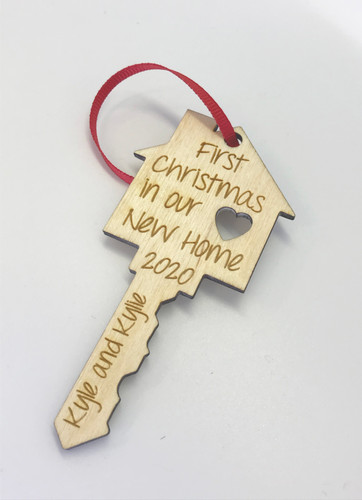 Personalized New Home Key Shaped Ornament