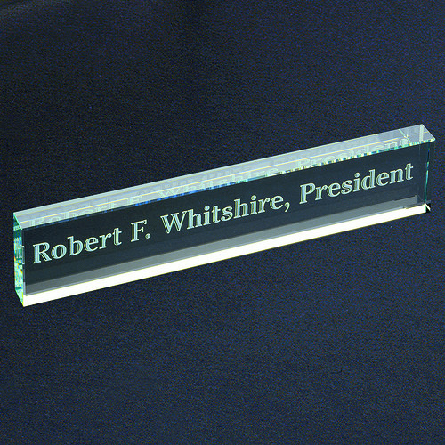 Glass Name Bar