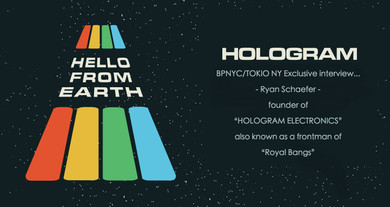 """BPNYC/TOKIO NY Exclusive interview- """"Ryan Schaefer"""" founder of """" HOLOGRAM ELECTRONICS""""  also known as a frontman of indie rockband """"Royal Bangs"""" …!"""