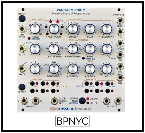 Rossum Panharmonium - Spectral Processor and Tone Generator