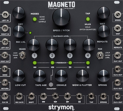 Strymon MAGNETO - Stereo multi-head tape delay emulation, looper, phrase sampler, reverb, clock multiplier