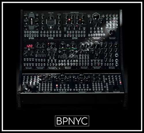 Erica Synths Dada Noise System II/Quadraphonic Surround Panner/Angled side panels for 2 row and 1 row cases