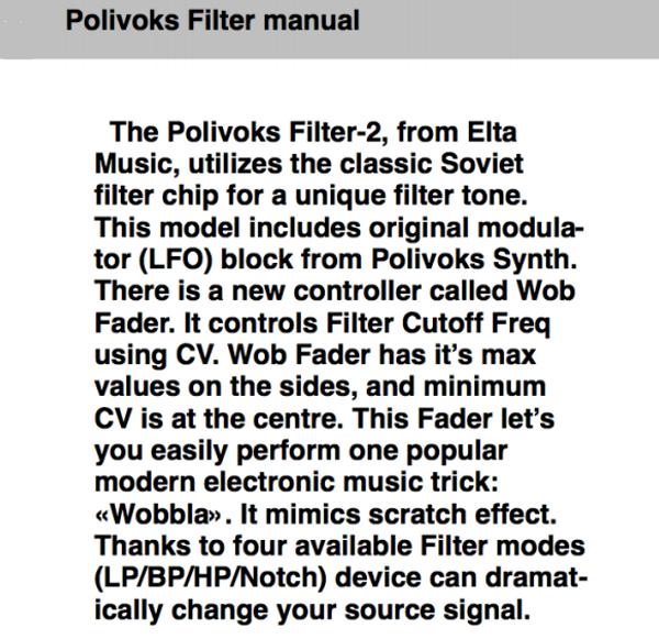 Elta Music Polivoks Filter-2
