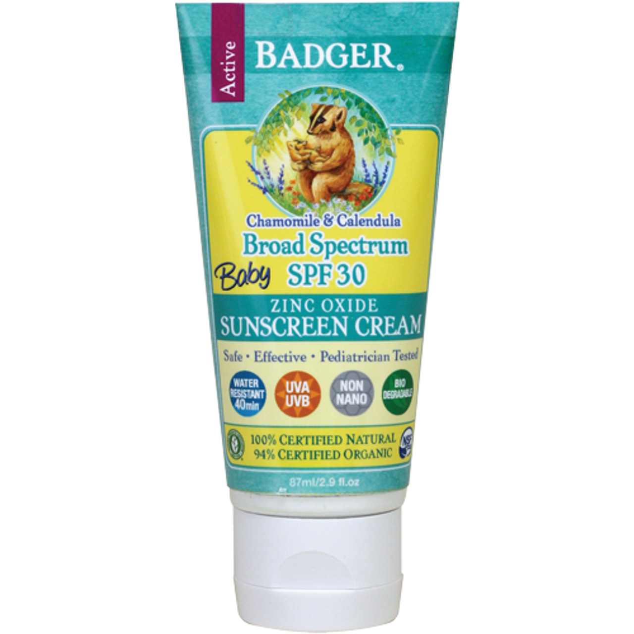 Badger Natural Baby Sunscreen Cream SPF 30