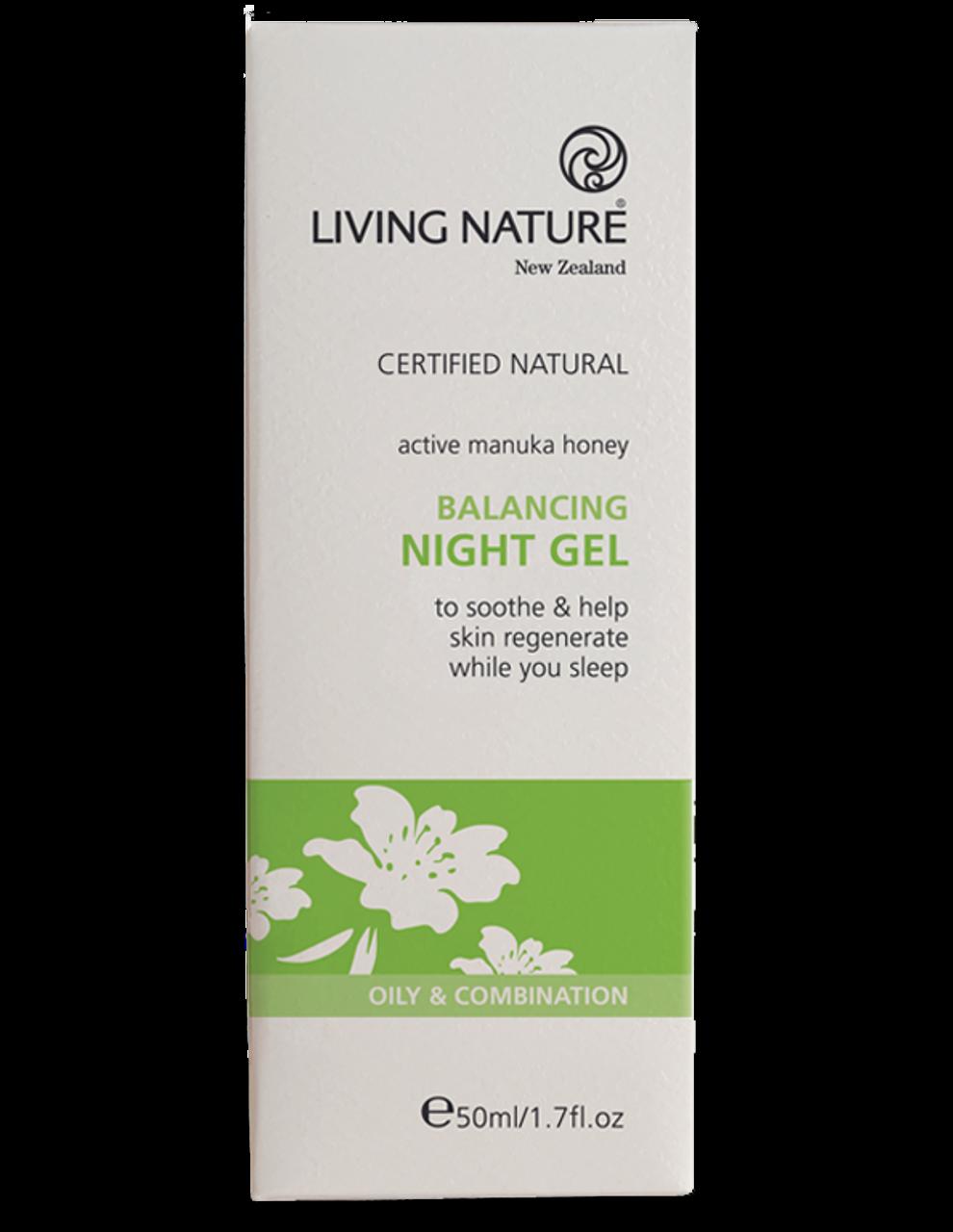 Living Nature, Balancing Night Gel -50ml