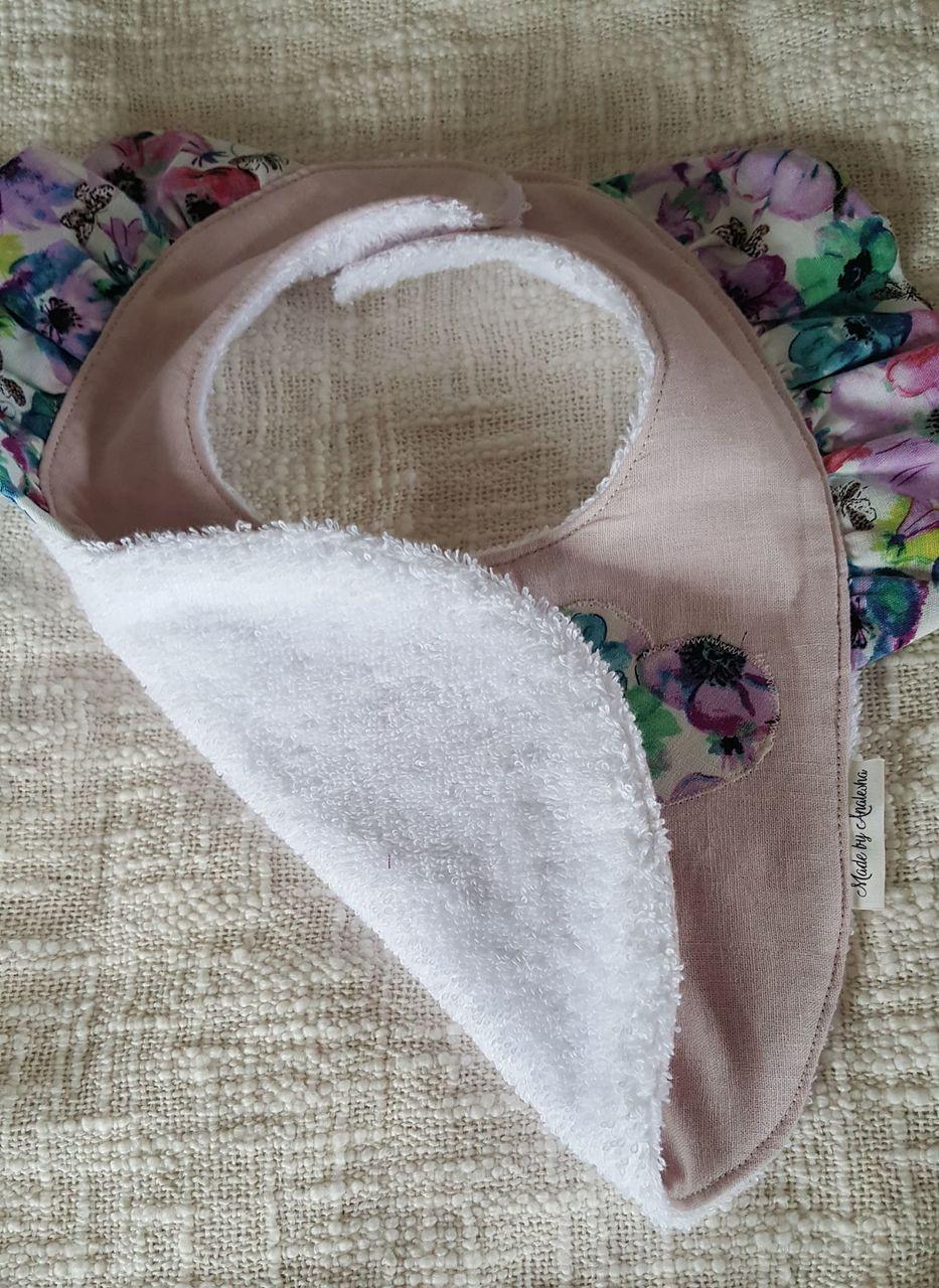 Handmade stylish Baby bib frills
